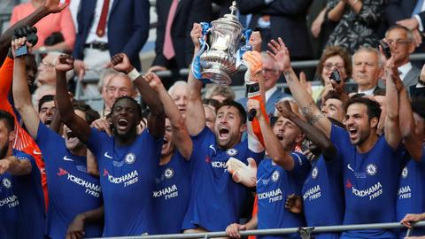 Hazard the hero as Chelsea hold firm to win FA Cup
