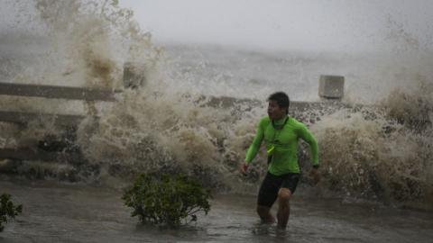 Half million evacuated as Typhoon Sarika hits China's Hainan
