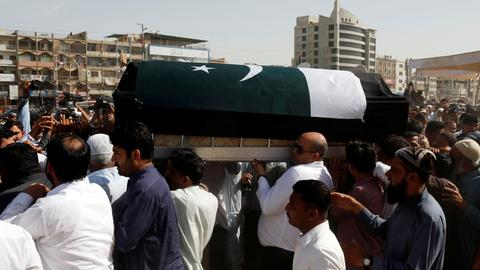Amid sobs and anger, Pakistan buries girl killed in US school shooting