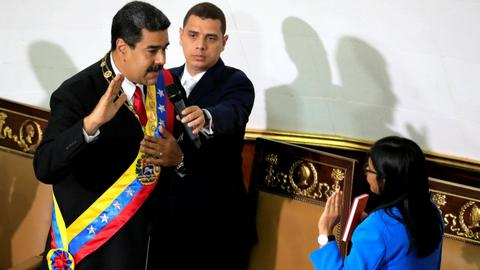 Venezuela's Maduro seeks oil output boost as he is sworn in