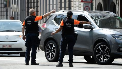 At least four dead as gunman shoots Belgian police in Liege