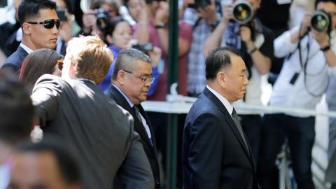 Kim's right-hand man in US for talks on North Korea summit