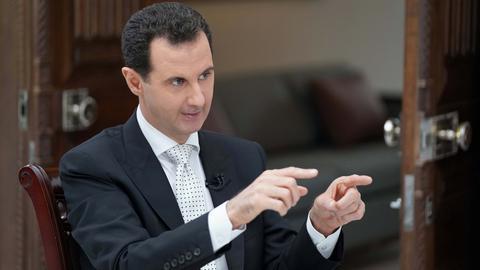 Syrian regime leader Assad says US must leave Syria
