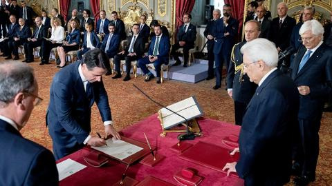 Italy's populist government sworn in