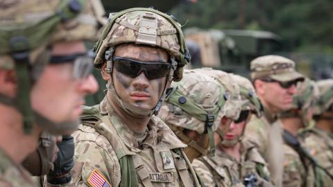 US launches war games on NATO's eastern flank