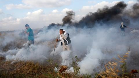 Palestinians gather in Gaza to mark 'Naksa Day'