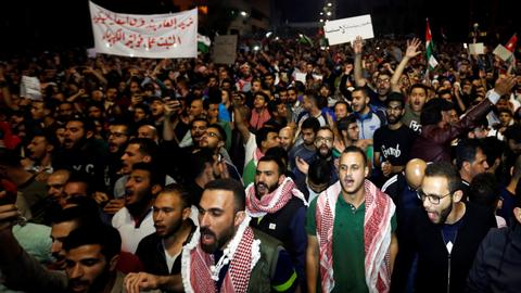 Protests continue in Jordan against tight austerity measures