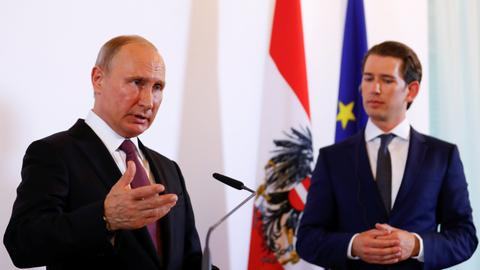 Putin visits Austria, says lifting Russia sanctions would benefit all