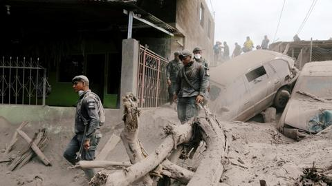 More evacuations after Guatemala volcano erupts again