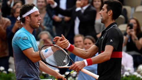 Djokovic falters, Ceccchinato soars in French Open stunner