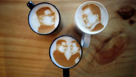 Latte art and a gym ad: Kim Jong-un's softer image in S.Korea