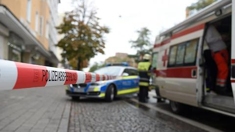 Four injured in accident outside German mosque