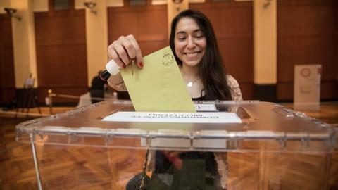Voting under way for Turkish expatriates in June 24 elections