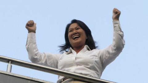 Fujimori wins first round of presidential elections in Peru