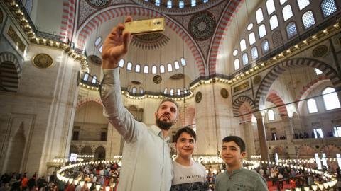 Muslims all around the world celebrate Eid al Fitr