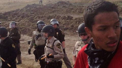 Tribe forges ahead with North Dakota pipeline fight despite arrests