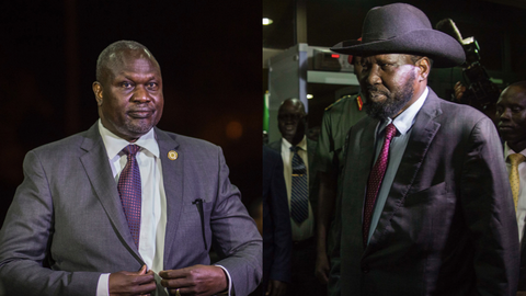South Sudan's president and rebel leader meet in Ethiopia for peace talks