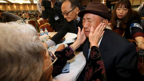 North and South Korea hold talks to discuss family reunions