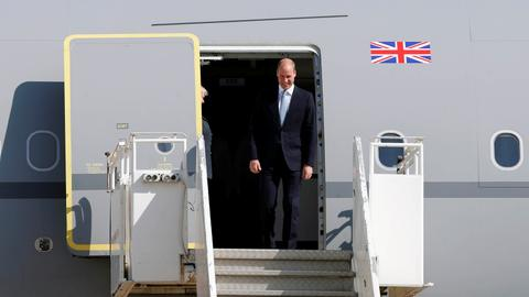 UK's Prince William starts politically delicate Middle East trip