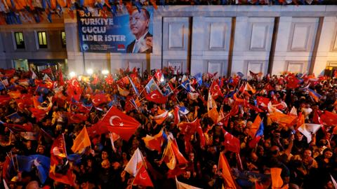 Erdogan declares Turkish nation the winner after election victory