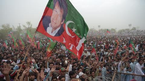 Pakistan's Imran Khan kicks off election campaign