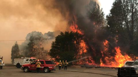 Evacuations ordered as California wildfires destroys buildings