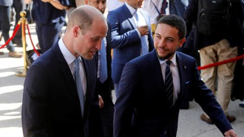 Prince William on historic Middle East trip; praises Jordan ties