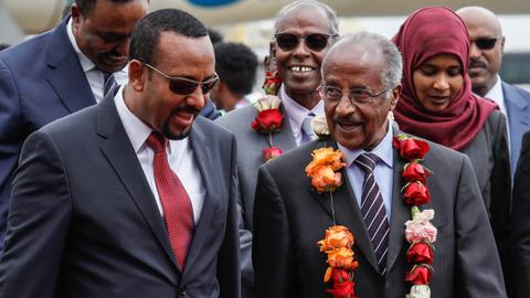 Eritrea's top diplomat in Ethiopia for historic talks