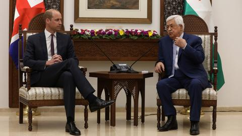Prince William meets Palestinian president in Israeli-occupied West Bank
