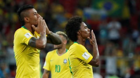 World Cup: Brazil and Switzerland through to last 16