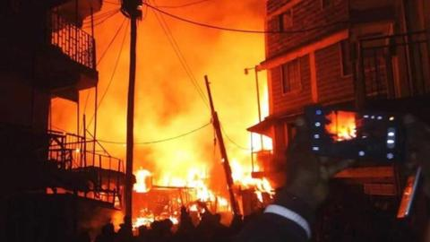 Market fire kills at least 15 in Kenya's Nairobi