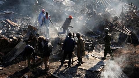 Market fire kills at least 15 in Kenya's Nairobi
