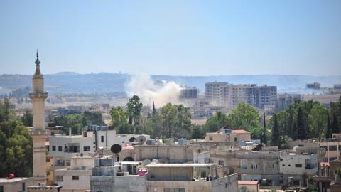 Latest air strikes kill dozens in Syria's Daraa