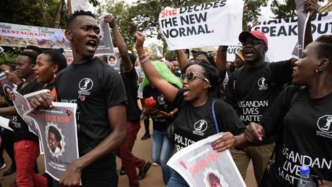 Ugandans protest surge in violence against women
