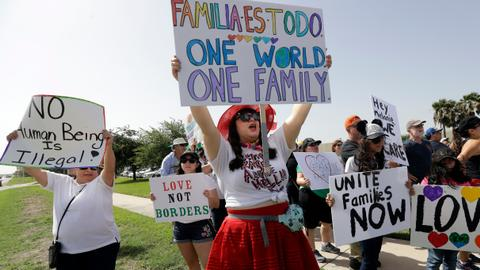 Thousands march across the US against Trump's immigration policy