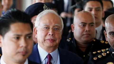 Former Malaysian prime minister Najib charged with corruption, gets bail