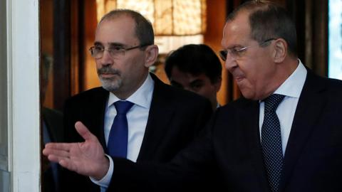 Jordanian foreign minister tells Russia ceasefire needed in southern Syria