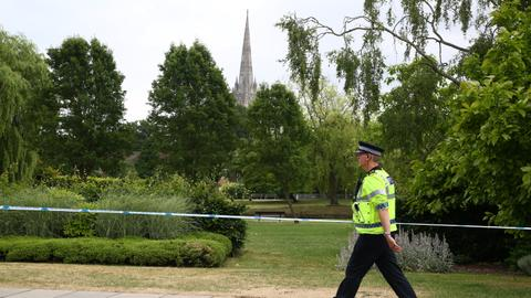 Britons poisoned with nerve agent near where Russian spy was struck down