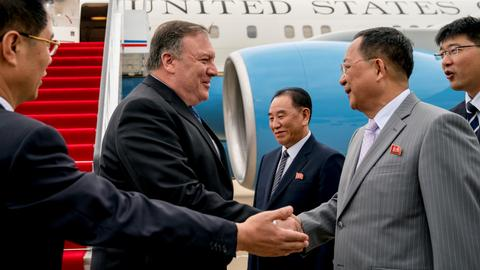Pompeo in Pyongyang to nail down details of North Korea agreement