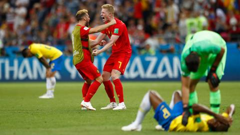 Belgium eliminate Brazil, advance to World Cup semifinals