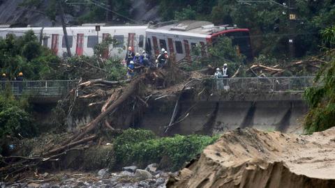 Dozens killed as torrential rain pounds Japan