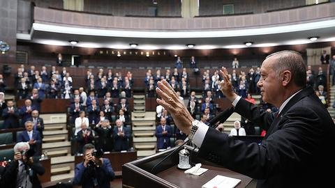 Turkish lawmakers take oath for parliament under new system