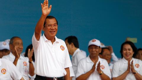 Cambodia's ruler starts campaigning with opponents silenced