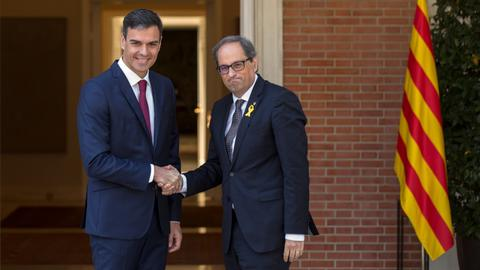 Spanish and Catalonia leaders meet in 'cordial' atmosphere
