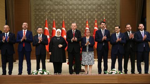 Erdogan announces first cabinet under new presidential system