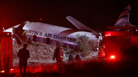 Chartered vintage plane crashes in South Africa killing one person