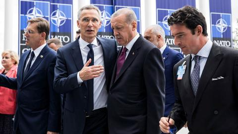 Erdogan attends NATO summit in Brussels