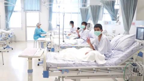 Saved Thai boys on road to recovery following cave rescue