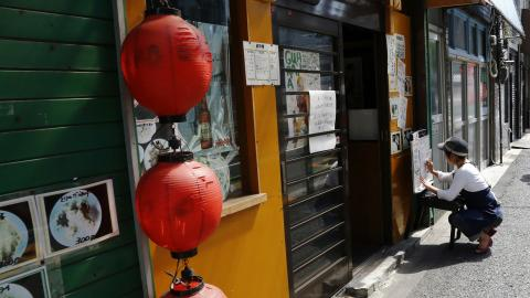 Man sets woman on fire in Japanese restaurant