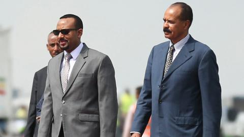 Eritrean leader on Ethiopia visit says 'history is made'